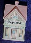 "Lenox Spice Village jar, Victorian ""Paprika"" house"