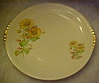 Paden City Pottery PCP60, yellow daisies, saucer