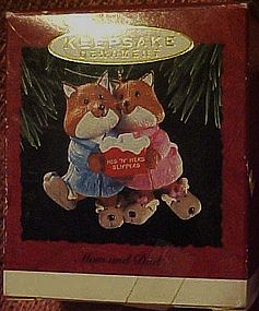 Hallmark keepsake ornament, Mom & Dad in  slippers