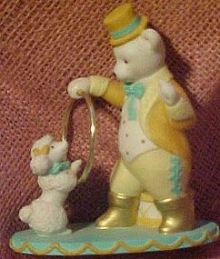 Avon circus bear ringmaster and poodle figurine 1993