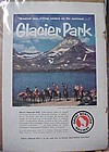 Vintage Great Northern Railway, Railroad train add