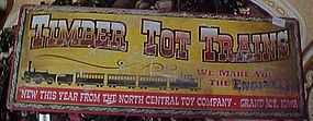 Nostalgic metal sign, Timber Tot Trains
