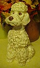 Large vintage ceramic poodle dog  figurine  10 3/4""