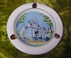 Disneyland porcelain souvenir ashtray, Magic Kingdom