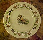 Tally Ho pattern salad plate, Exclusive China, Maddock
