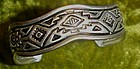 Sterling silver Indian design cuff bracelet