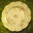 Antique Haviland Limoges Schleiger salad plate, florals
