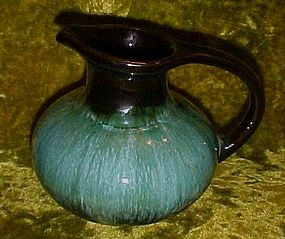 Blue Mountain Pottery Canada blue green glaze pitcher