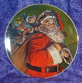 Avon 1987 Christmas plate, The magic that Santa brings