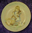 Avon Mothers Day 1988 plate, A Mothers work is never...