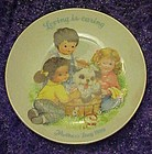 Avon 1989 Mothers Day plate, Loving is caring