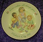 Avon 1991 Mothers day plate, Love makes all things grow