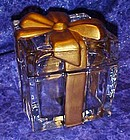 Heavy solid glass Christmas present, box