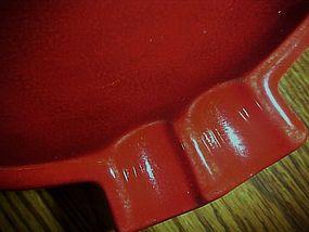 Maddux  lof California large red crackle glaze ashtray