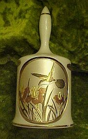 Dynasty Galery porcelain Art of Chokin hummingbird bell