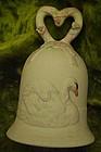 Enesco bisque porcelain swan bell 1986