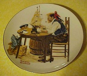 Beloved Classics, Norman Rockwell plate For a Good boy