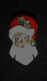 Avon enamel Santa Claus head Christmas pin