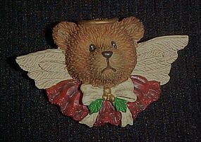 Teddy Bear angel pin
