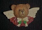 Teddy Bear angel pin