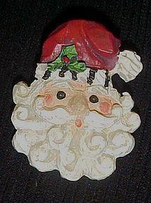 Adorable Santa Claus face Christmas pin