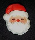 Vintage Hallmark  Santa face Christmas pin