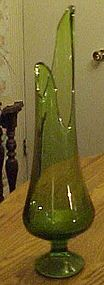 Viking Style green footed swing vase