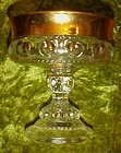Indiana Kings crown gold band footed compote