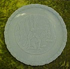 Fenton blue satin bicentennial plate In God we trust