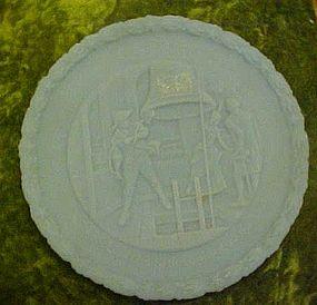 Fenton blue satin bicentennial plate, Proclaim Liberty