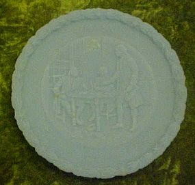 Fenton powder blue satin bicentennial plate  2#