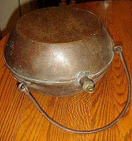 Antique metal bed warmer hot water filled, Yutampo