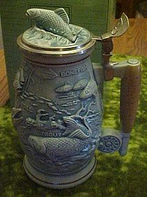 Avon fishing sportsman stein
