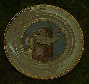 Vintage Pope  XII   plate. Homer Laughlin eggshell