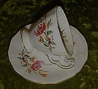 Adderley Bone china demitasse cup and saucer, mums