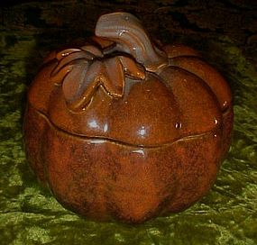 Wonderful  stoneware  autumn pumpkin cookie jar