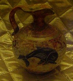 Greek Corinthian black figured pottery pitcher