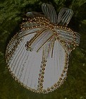 Real cockle shell Christmas ornament, fancy beach theme