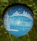 Hallmark 1982 Moments of Love Satin  ball ornament
