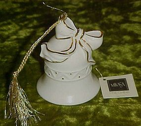 Mikasa fine china bell ornament