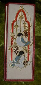 Tamerlane 24 kt gold finish Snowbird ornament, boxed