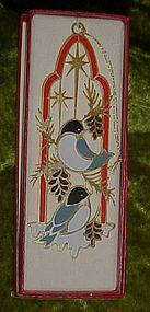 Tamerlane 24 kt gold finish Snowbird ornament, boxed