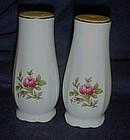 Tall porcelain salt pepper shakers with rose pattern
