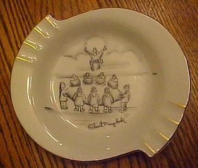 Robert Mayokok vintage ashtray, Native Eskimo art