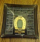 Binions Horseshoe club ashtray 1970 square smoked glass