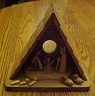 Vintage all wood Creche & Nativity decoration