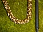 Vintage Monet double link cable chain choker necklace