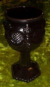 Avon ruby red Cape cod wine glass