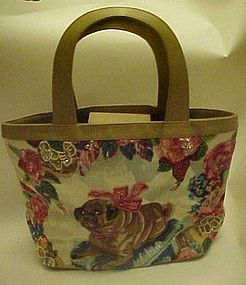 Designer purse by Christy Jeweled pet pug