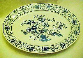 Double Phoenix blue and white  Ming Tree 12 1/2 platter